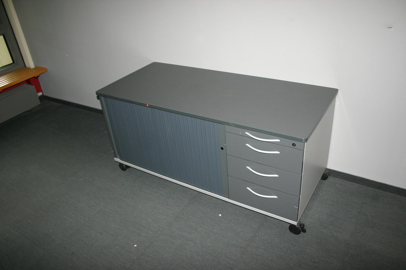 rollbares sideboard in anthrazit von werndl. Black Bedroom Furniture Sets. Home Design Ideas