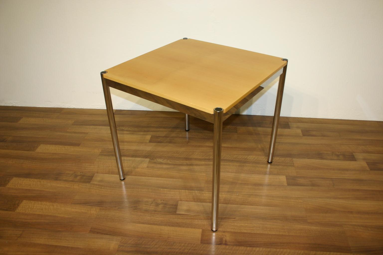 usm haller tisch in birke 75 x 75. Black Bedroom Furniture Sets. Home Design Ideas