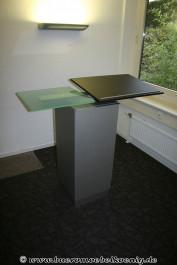 Stehpult in grau / schwarz mit Glasplatte von Walter Knoll, Modell Icon
