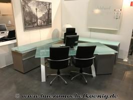 Komplettbüro in grau von Walter Knoll, Modell Icon
