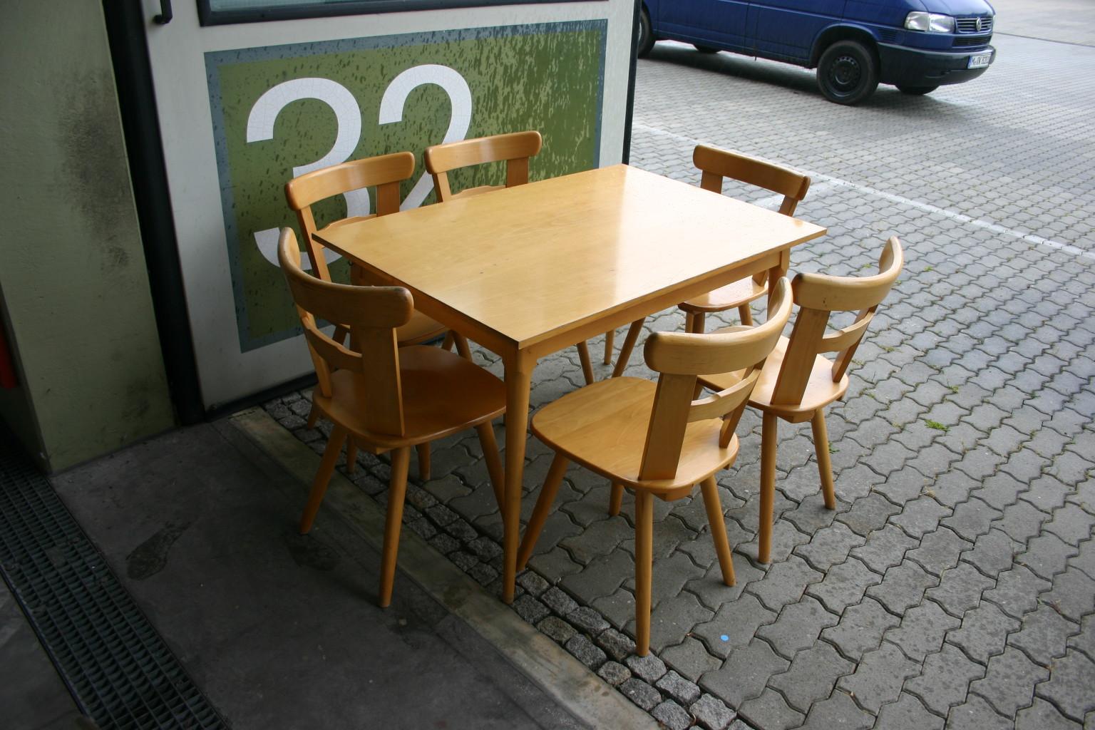Holztisch aus buche kantinentisch restaurant esstisch for Holztisch gebraucht
