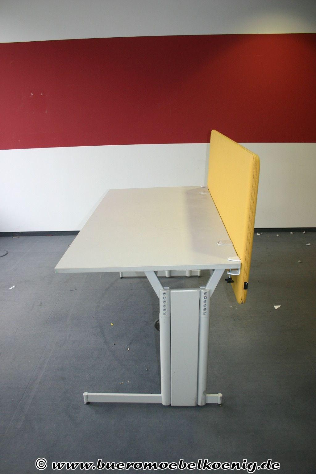 Trennwand f r schreibtisch in gelb von g tessons for Schreibtisch trennwand