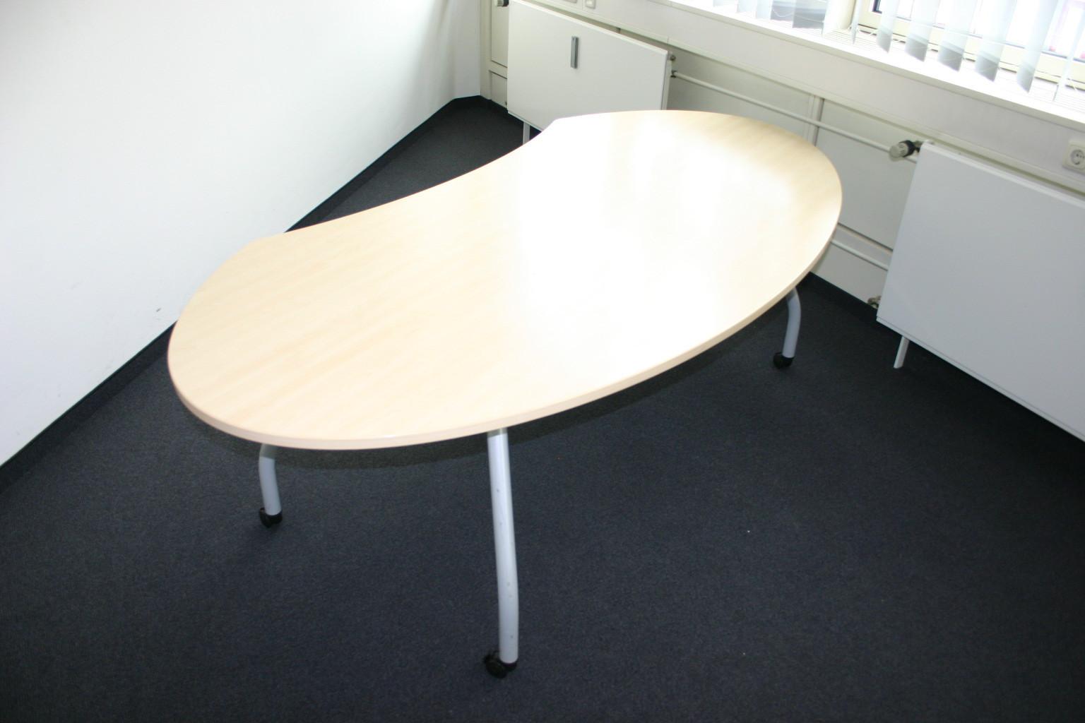 Schreibtisch 150 x 100 in ahorn von werndl modell frisco for Schreibtisch 150