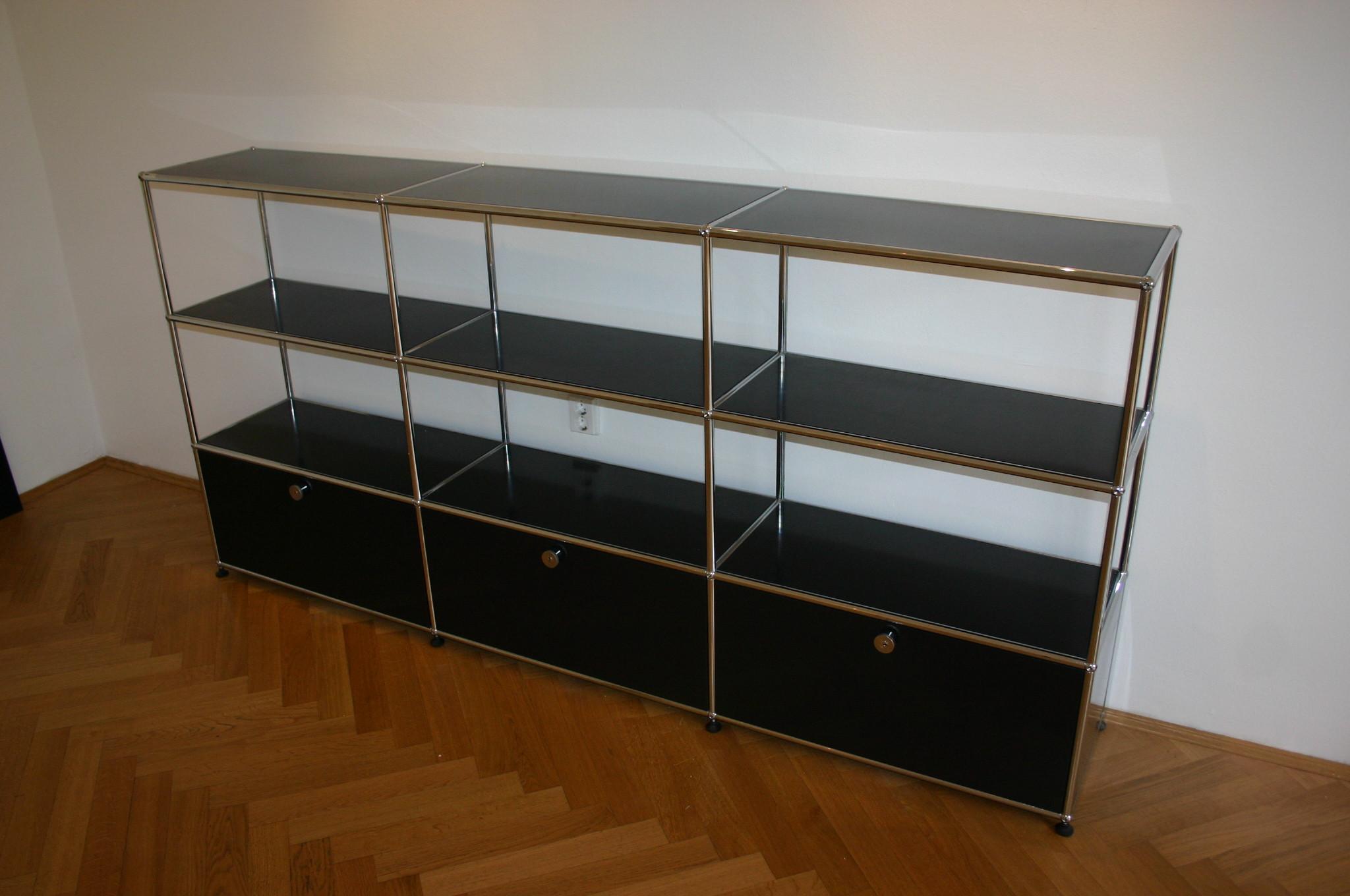 sideboard von usm haller in schwarz sideboards unsere kategorien. Black Bedroom Furniture Sets. Home Design Ideas