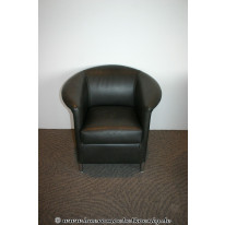 Sessel in braunem Leder von Wittmann, Modell Aura