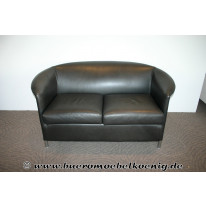 Sofa in braunem Leder von Wittmann, Modell Aura