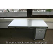 Tisch 160 x 80 in grau / Chrom von Bosse