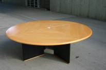 Runder Konferenztisch in Kirsche / schwarz von Knoll International