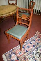 5er Stuhl-Set im Antik-Stil