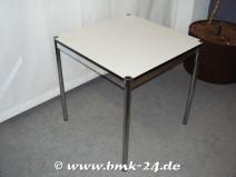 USM Haller Tisch in perlgrau 75 x 75