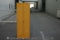 Metallspind mit 2 Türen