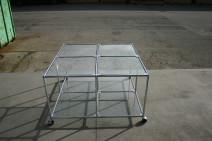 Tisch von USM Haller in Glas