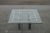 Glastisch mit Chromgestell von Knoll International
