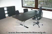 Komplettbüro in schwarz von Walter Knoll, Modell Exec-V