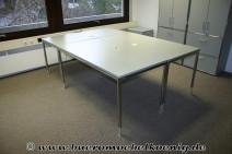 Tisch 180x100 in grau / Chrom von Bosse