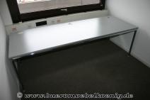 Tisch 225 x 80 in grau / Chrom von Bosse