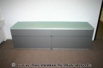 Sideboard in grau mit Glasplatte von Walter Knoll, Modell Icon