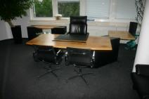 3  teiliges Chefbüro von Renz C. R. Mezger in Kirsche und Granit