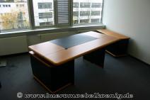 Komplettbüro in Kirsche / schwarz von Walter Knoll