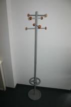 Garderobe + Schirmständer in Buche / silber