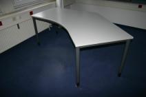Freiform-Schreibtisch in Grau von Werndl
