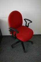 Hochwertiger Bürostuhl in rot / schwarz