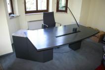 Chefbüro in Echtholz anthrazit / Granit von Renz