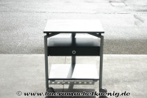 Druckerwagen in schwarz / silber