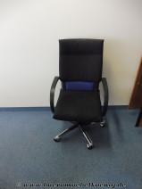 Bürostuhl in schwarz / chrom von Vitra, Modell Figura