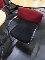 Freischwinger in rot / schwarz / chrom von Vitra, Modell VisaVis