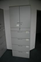 6 OH Aktenschrank mit Türen und Hängeregistratur Hängeregisterschrank