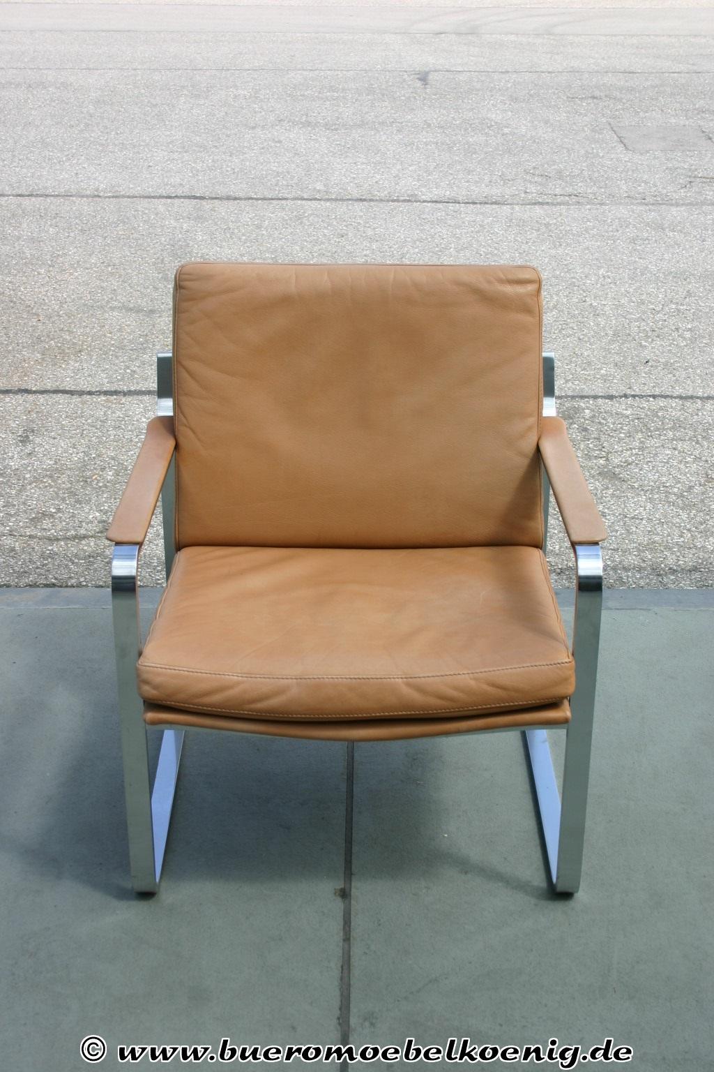 sessel in braunem leder vintage. Black Bedroom Furniture Sets. Home Design Ideas