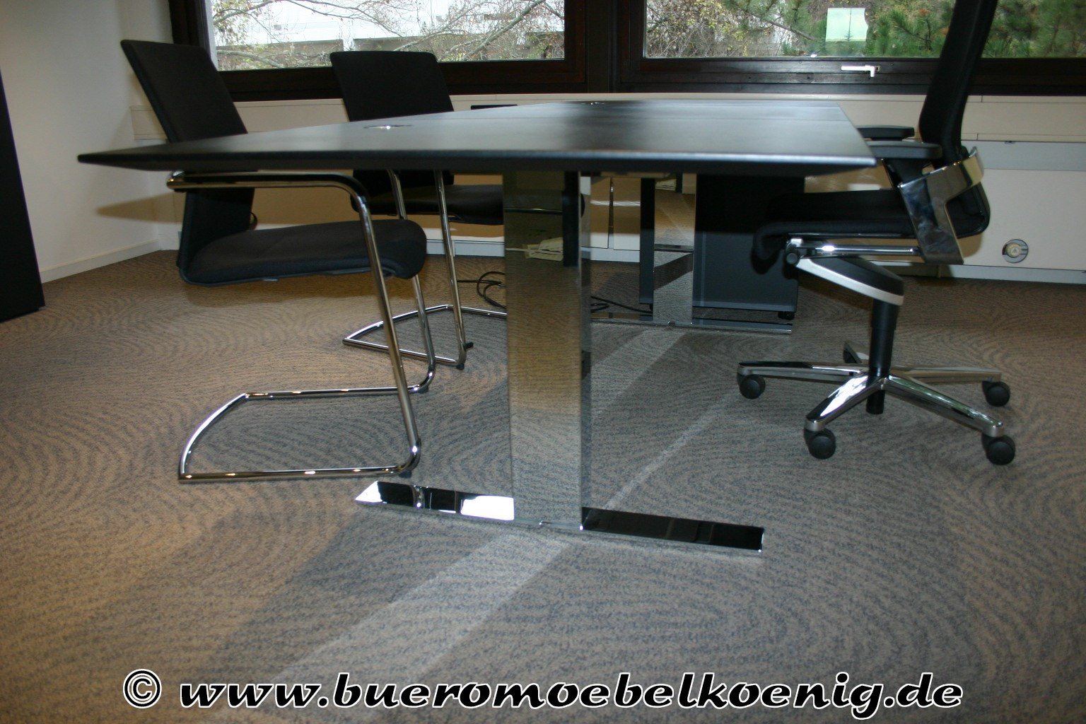komplettb ro in schwarz von walter knoll modell exec v. Black Bedroom Furniture Sets. Home Design Ideas