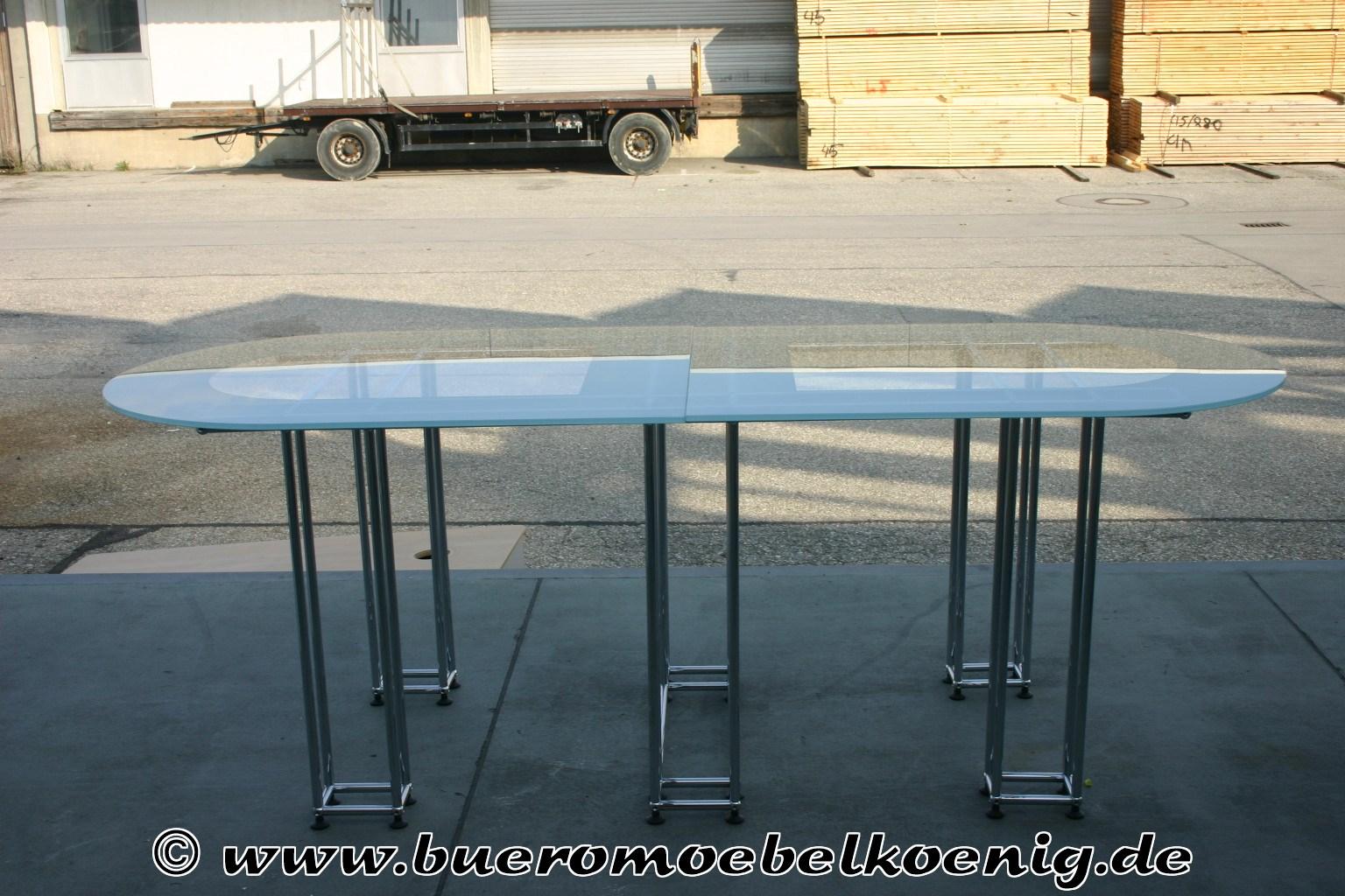 ovaler glastisch von usm haller tische unsere kategorien. Black Bedroom Furniture Sets. Home Design Ideas