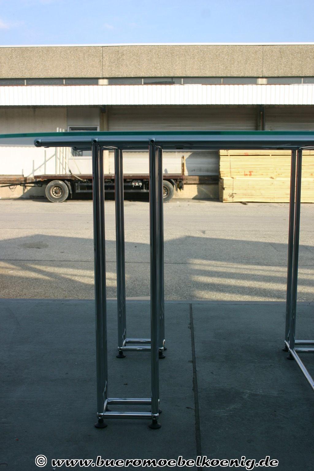 Ovaler glastisch von usm haller for Ovaler glastisch