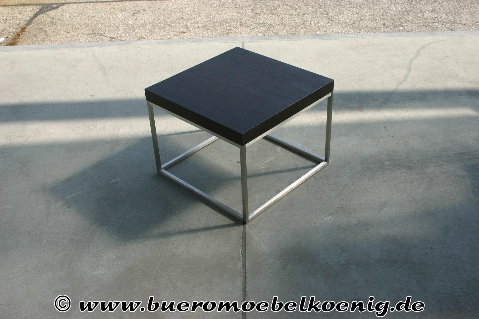 beistelltisch in schwarz edelstahl von wittmann tische. Black Bedroom Furniture Sets. Home Design Ideas
