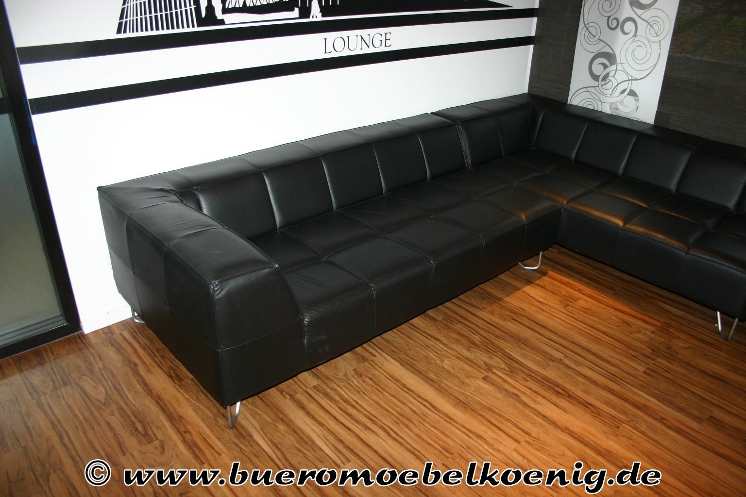 sofa in schwarzem leder von boconcept modell milos empfangsm bel unsere kategorien. Black Bedroom Furniture Sets. Home Design Ideas