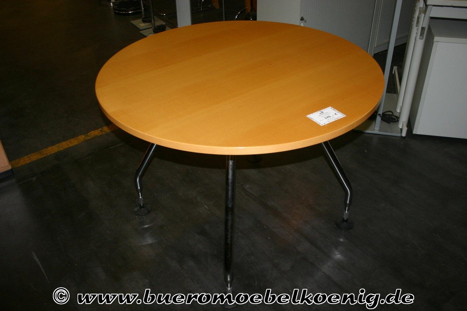 Runder tisch von vitra modell ad hoc mit platte in buche for Runder tisch mit marmorplatte