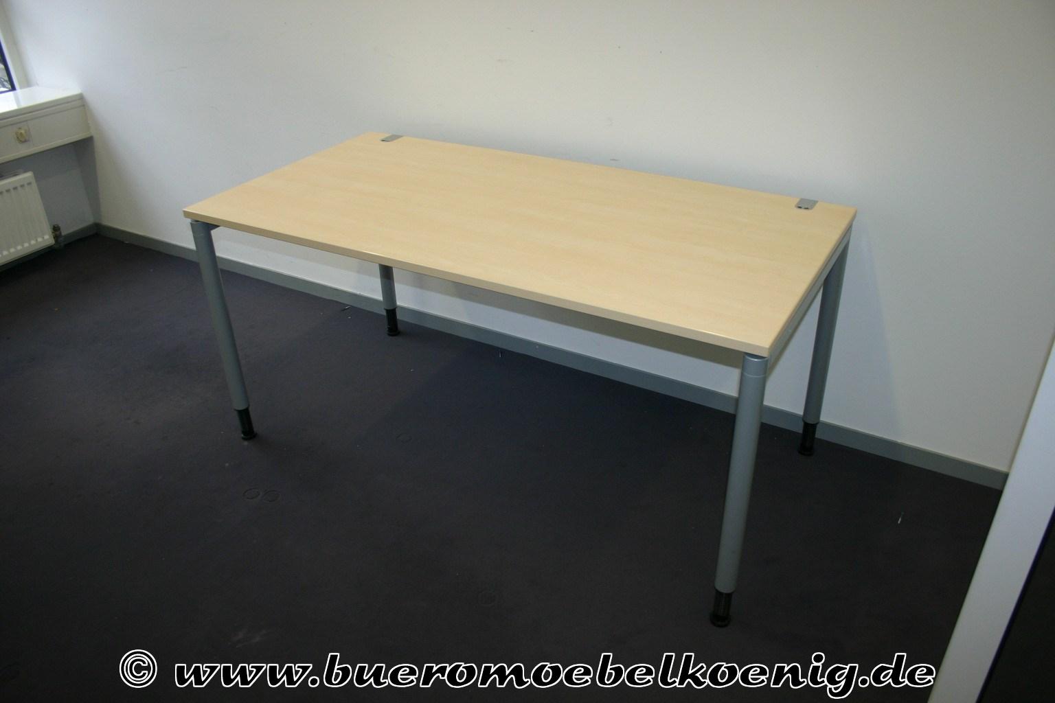 Schreibtisch 160x80 in ahorn von ceka for Schreibtisch ahorn