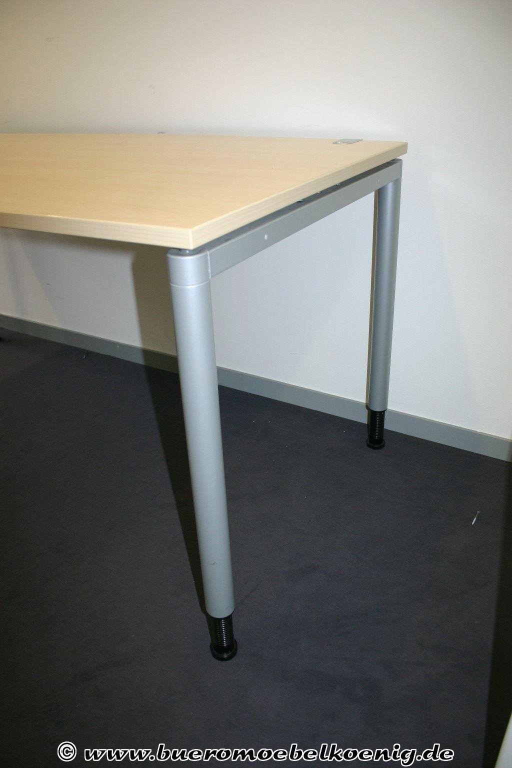 Schreibtisch 160x80 in ahorn von ceka for Schreibtisch aus ahorn