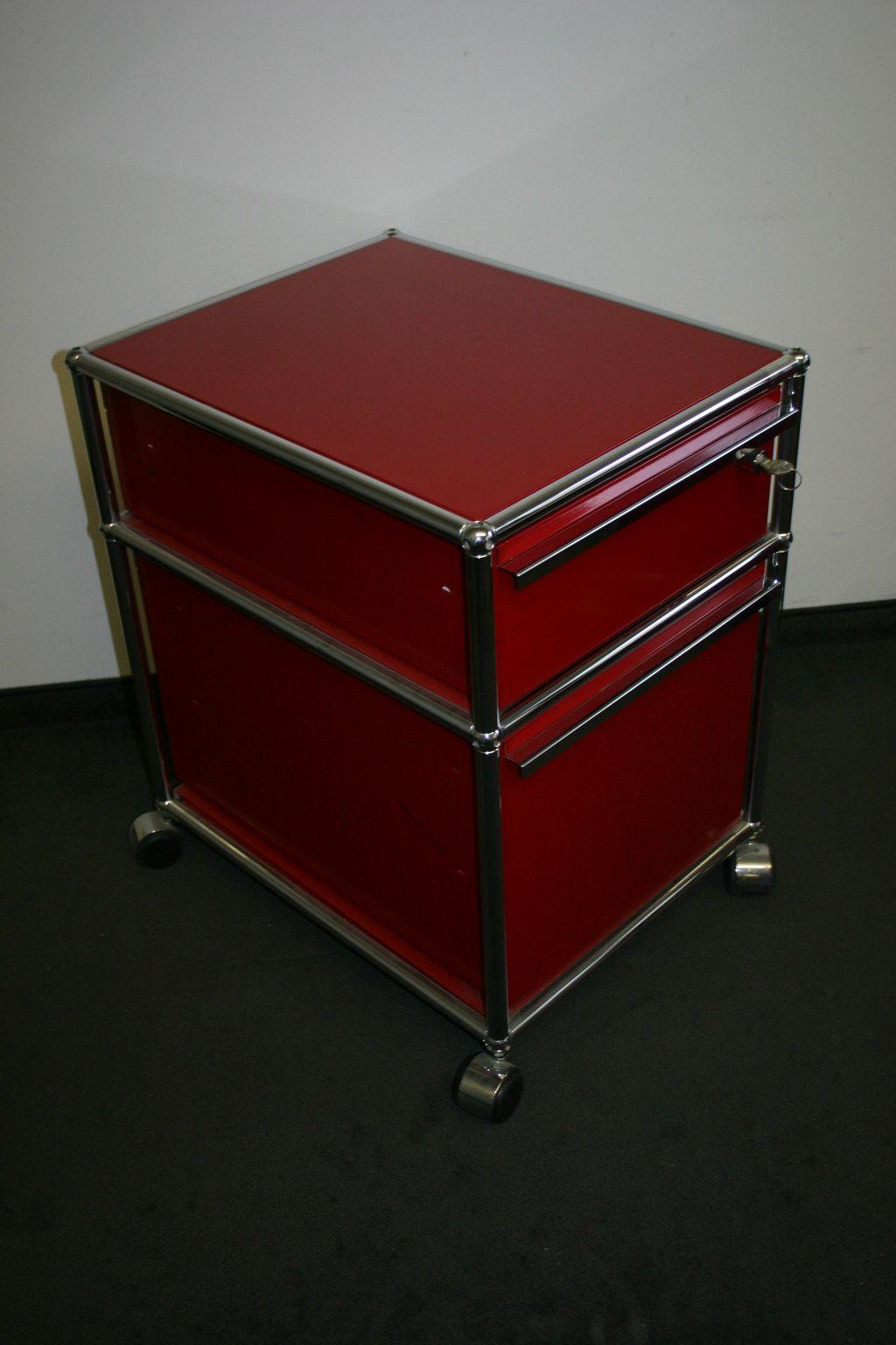 rollcontainer in rot von usm haller. Black Bedroom Furniture Sets. Home Design Ideas