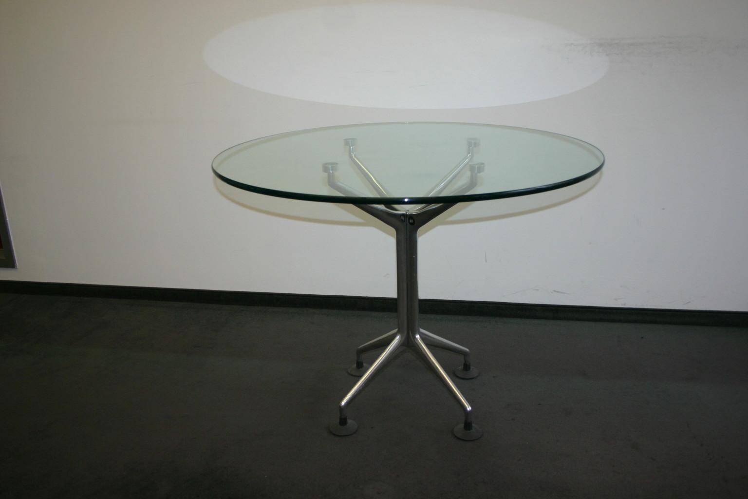 Runder Glastisch von Oken