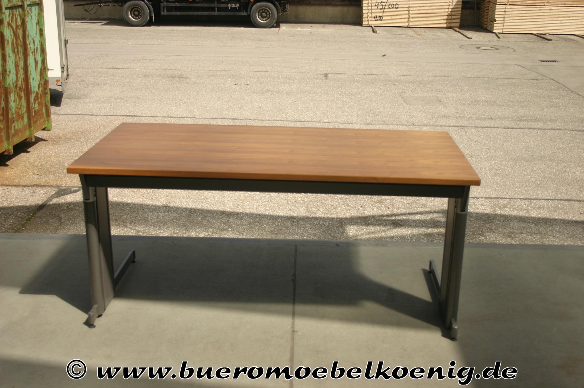 Schreibtisch 160x80 in Nussbaum von Lorbeer