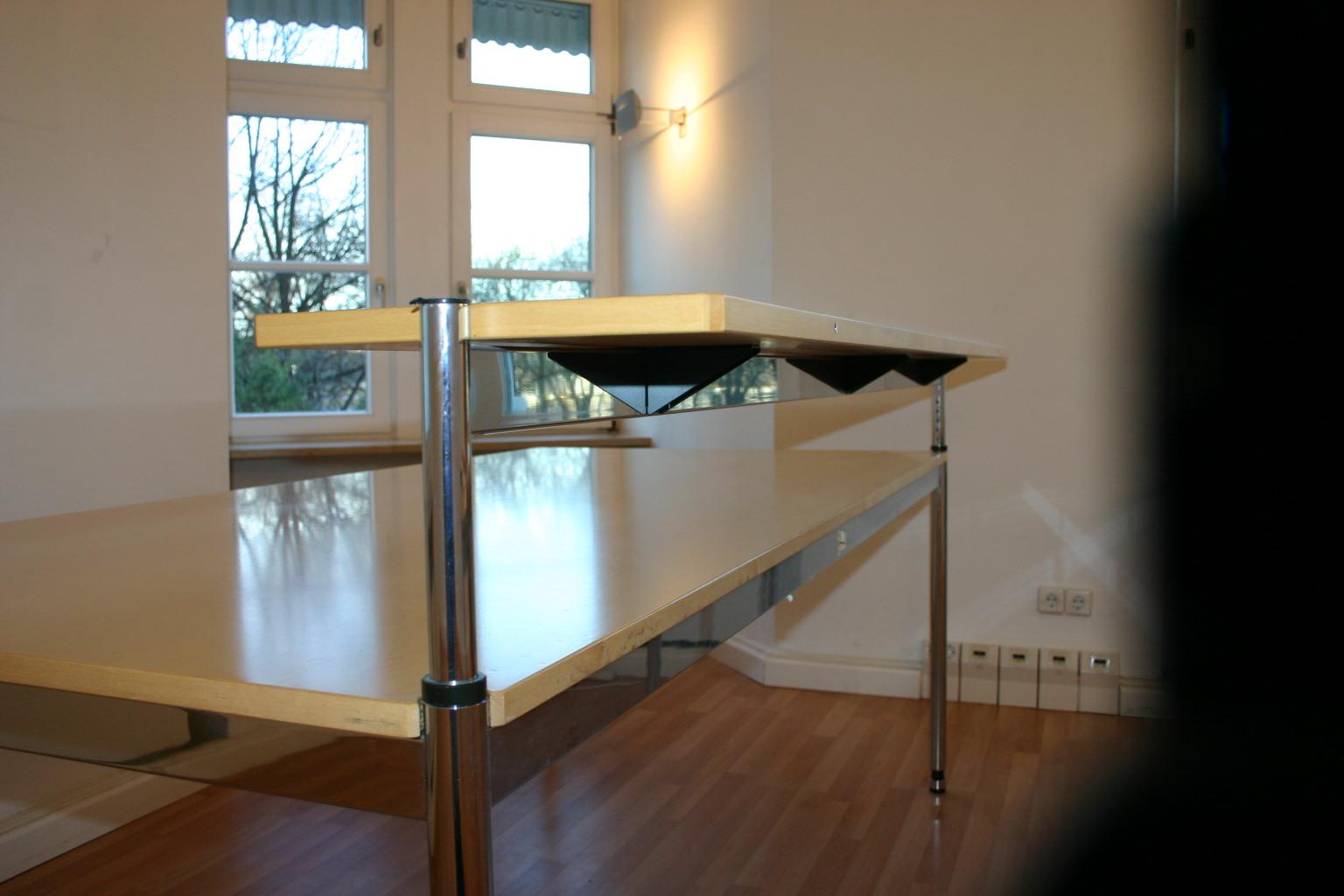aufsatz f r usm haller tisch in ahorn 200 x 30. Black Bedroom Furniture Sets. Home Design Ideas