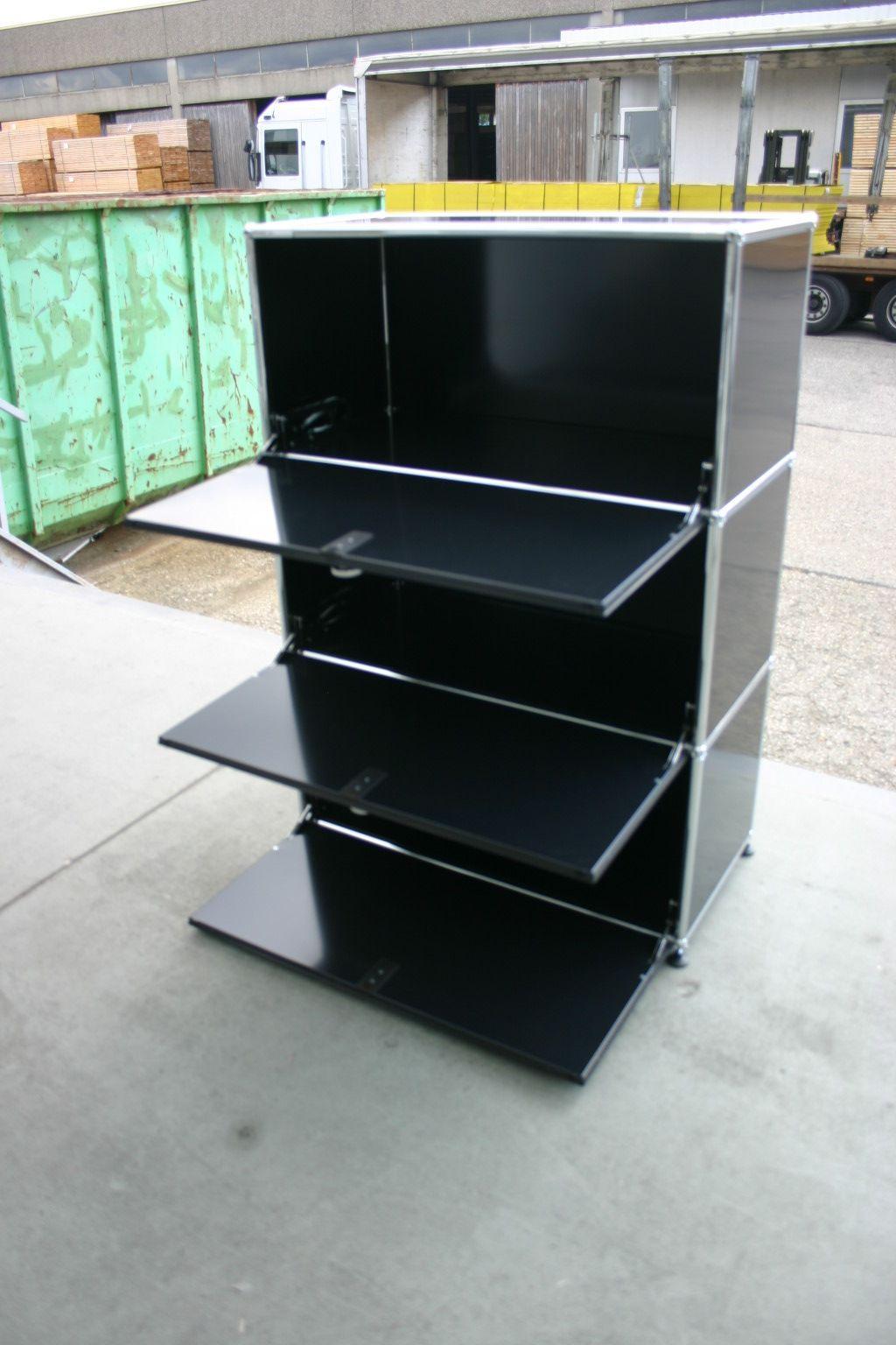 sideboard von usm haller in schwarz regal sideboards sideboards unsere kategorien. Black Bedroom Furniture Sets. Home Design Ideas