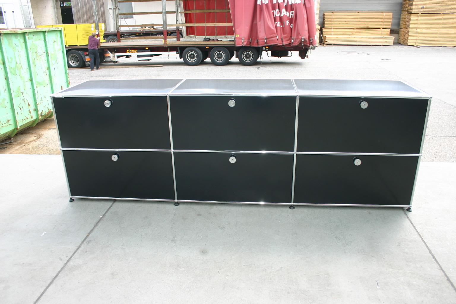 sideboard von usm haller in schwarz usm haller unsere kategorien. Black Bedroom Furniture Sets. Home Design Ideas
