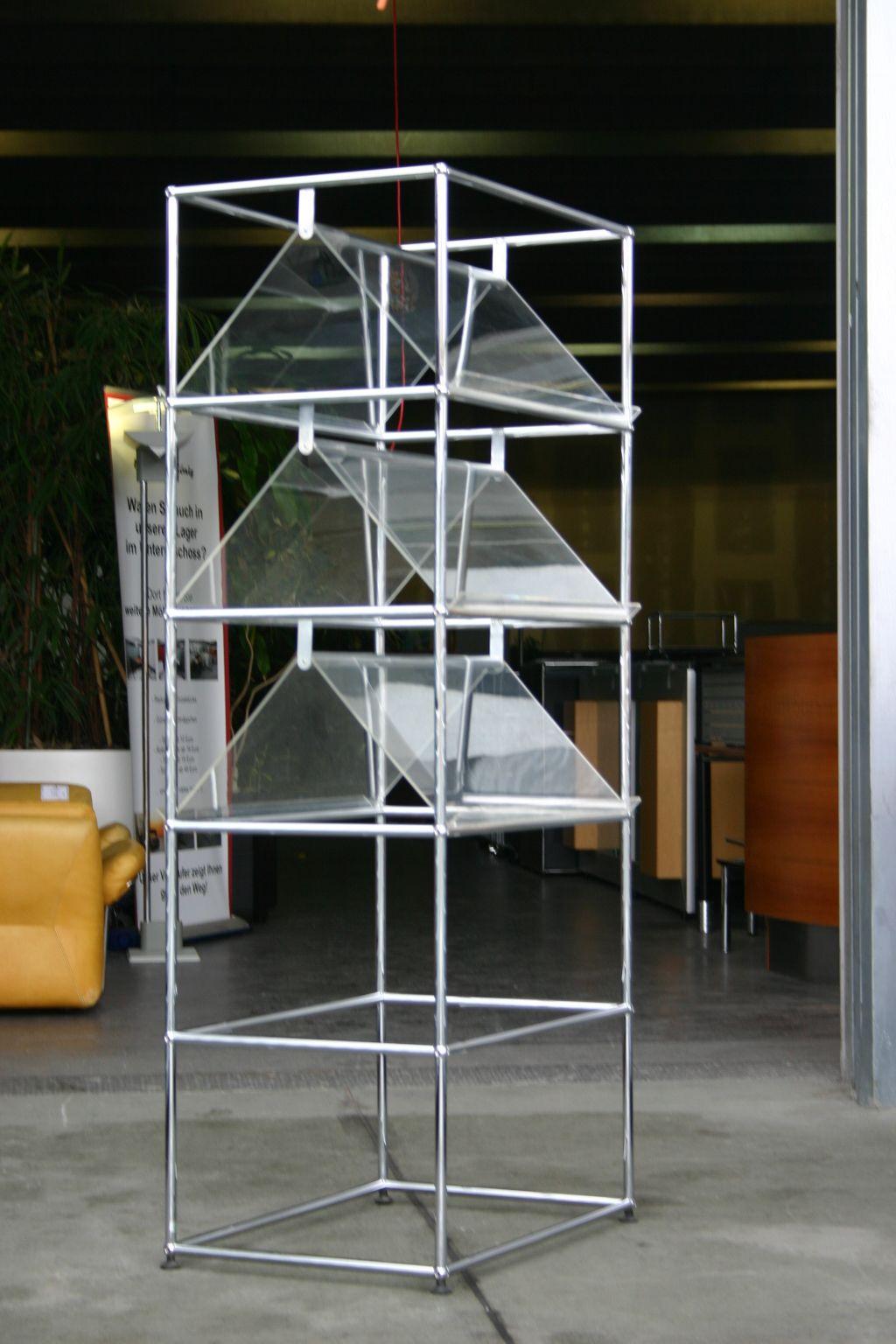 prospektregal von usm haller. Black Bedroom Furniture Sets. Home Design Ideas