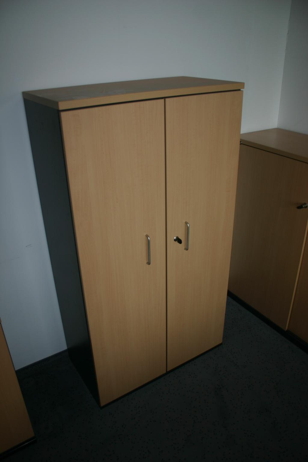 4 oh aktenschrank in buche anthrazit. Black Bedroom Furniture Sets. Home Design Ideas
