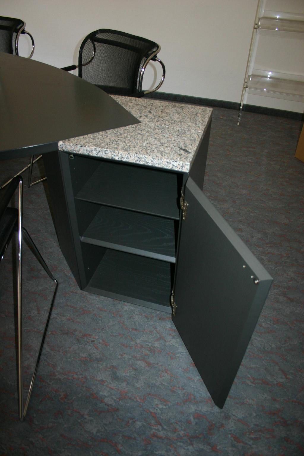chefb ro in echtholz anthrazit granit von renz. Black Bedroom Furniture Sets. Home Design Ideas