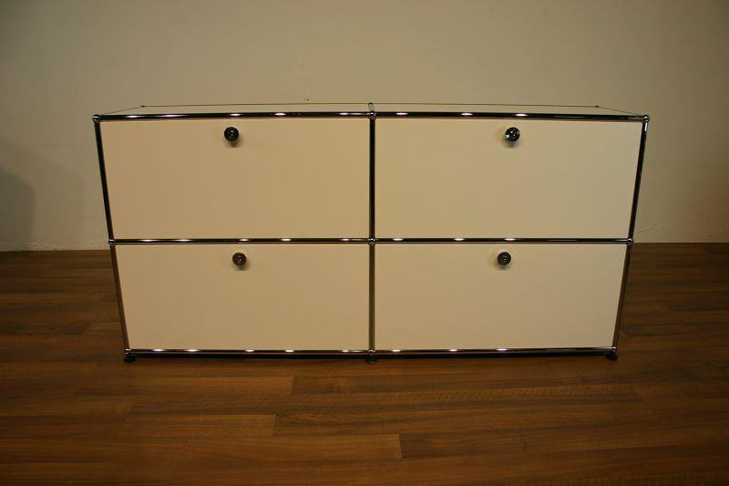 sideboard mit 4 f chern in wei von usm haller usm haller unsere kategorien. Black Bedroom Furniture Sets. Home Design Ideas